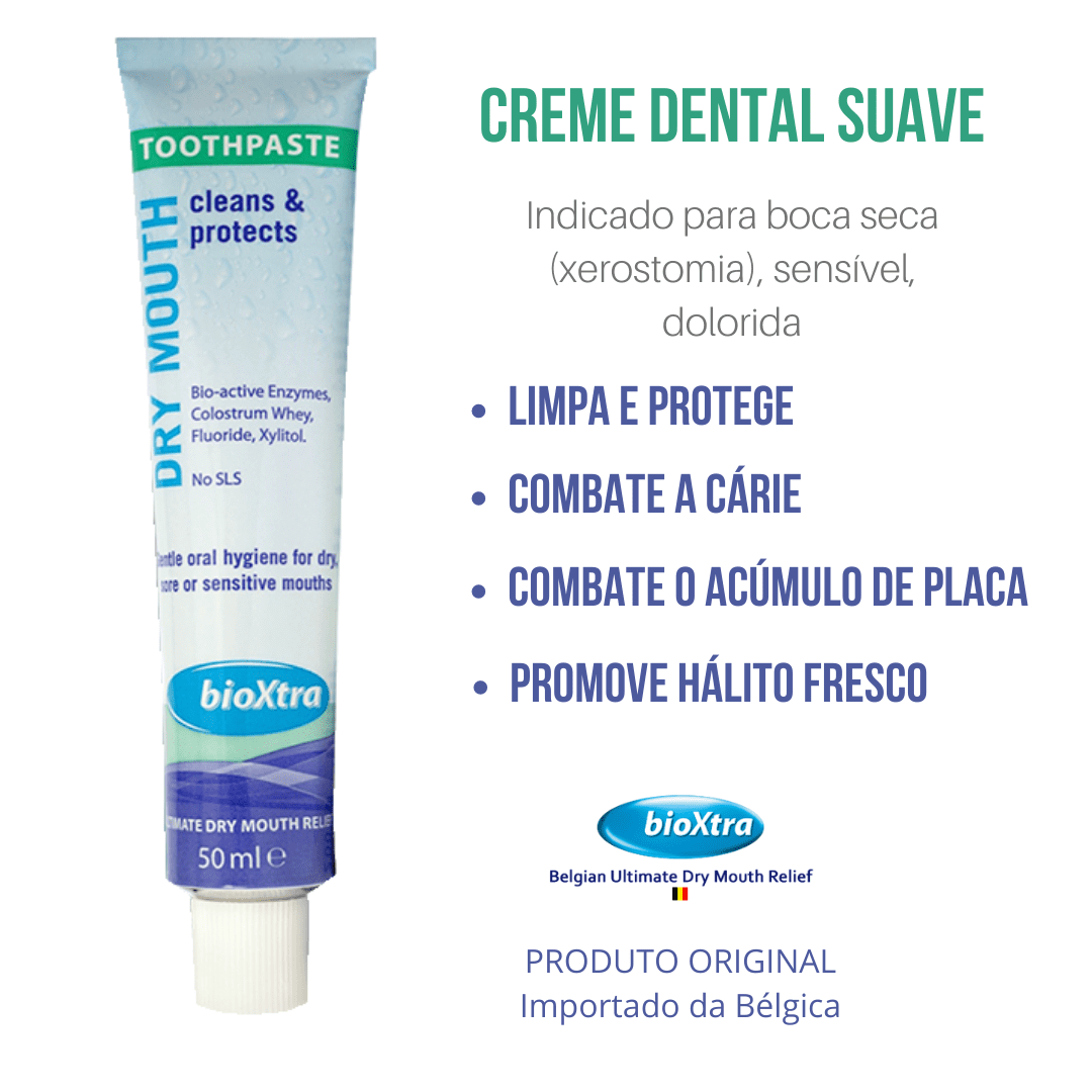 Creme Dental Para Boca Seca - Xerostomia - Bioxtra 50ml