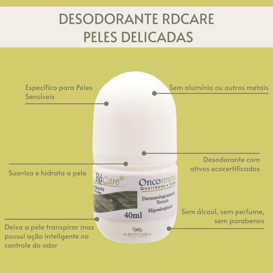 Desodorante Sem Álcool e Hipoalergênico Oncosmetic 40ml