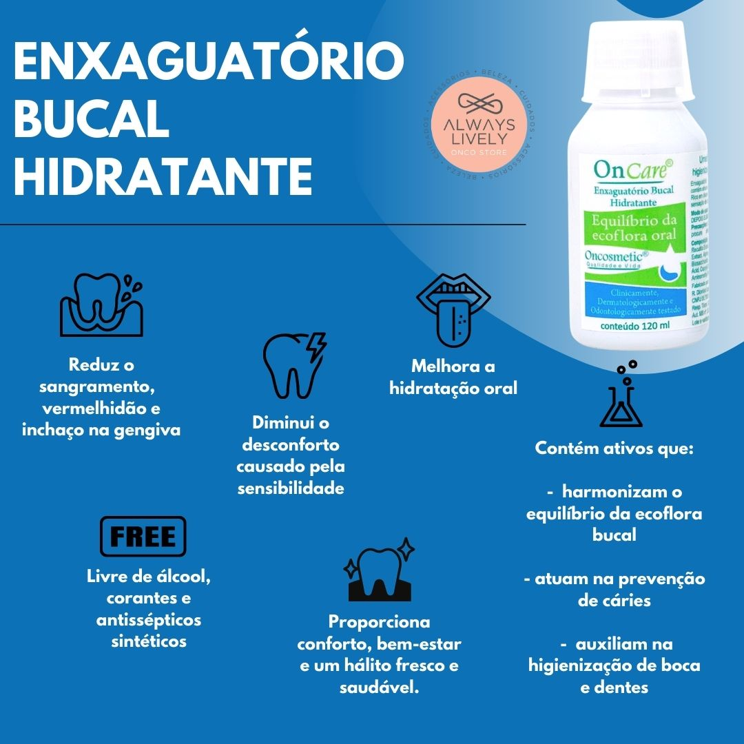 Enxaguante Bucal Hidratante OnCare - Oncosmetic 120ml