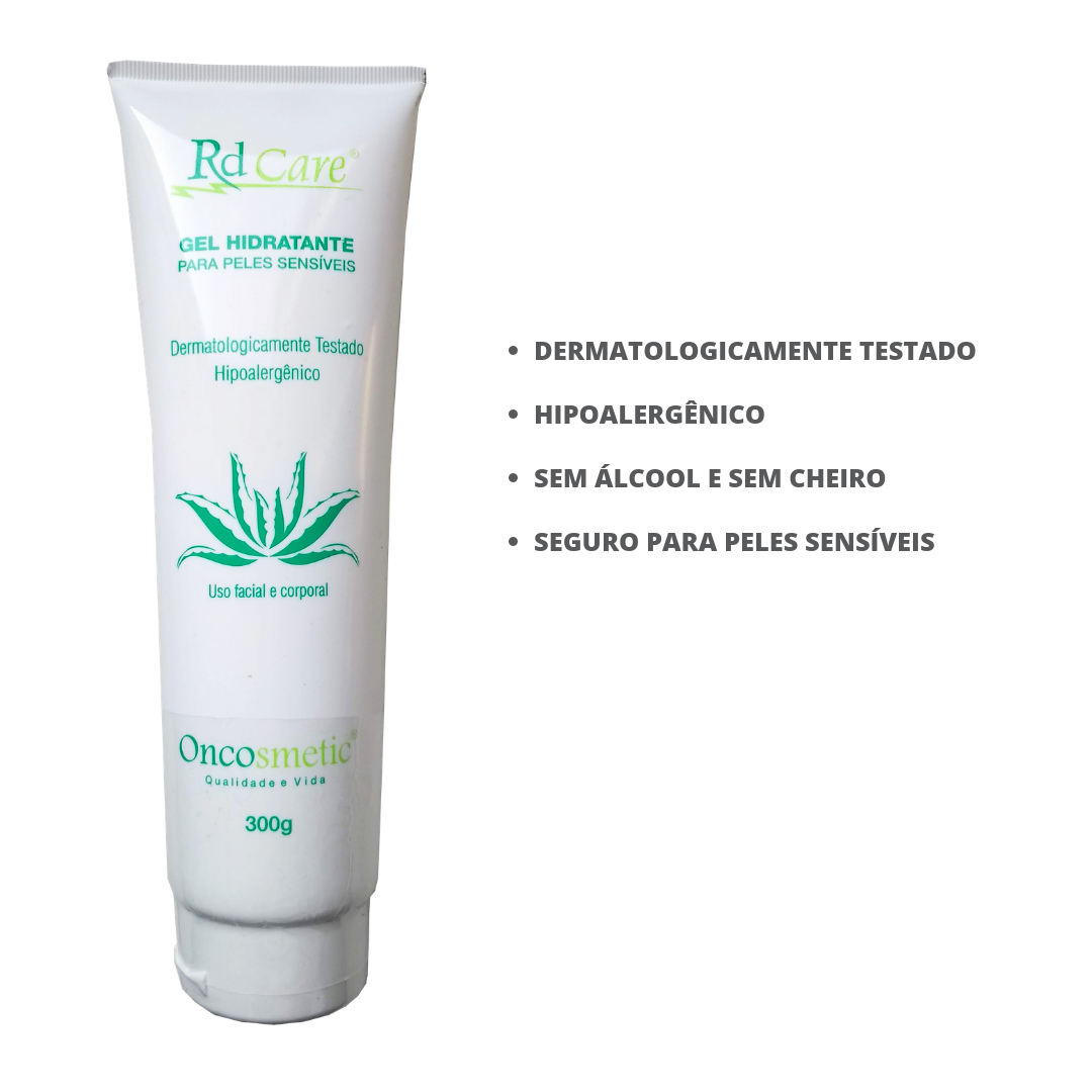 Gel Hidratante Pele Sensivel por Tratamento Cancer 300g