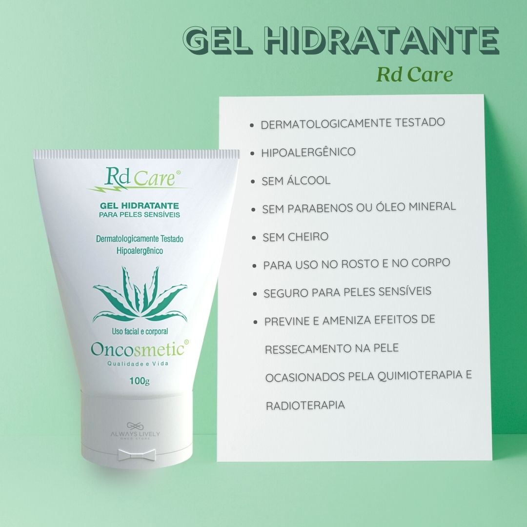 Gel Hidratante Pele Seca por Quimioterapia Radioterapia 100g