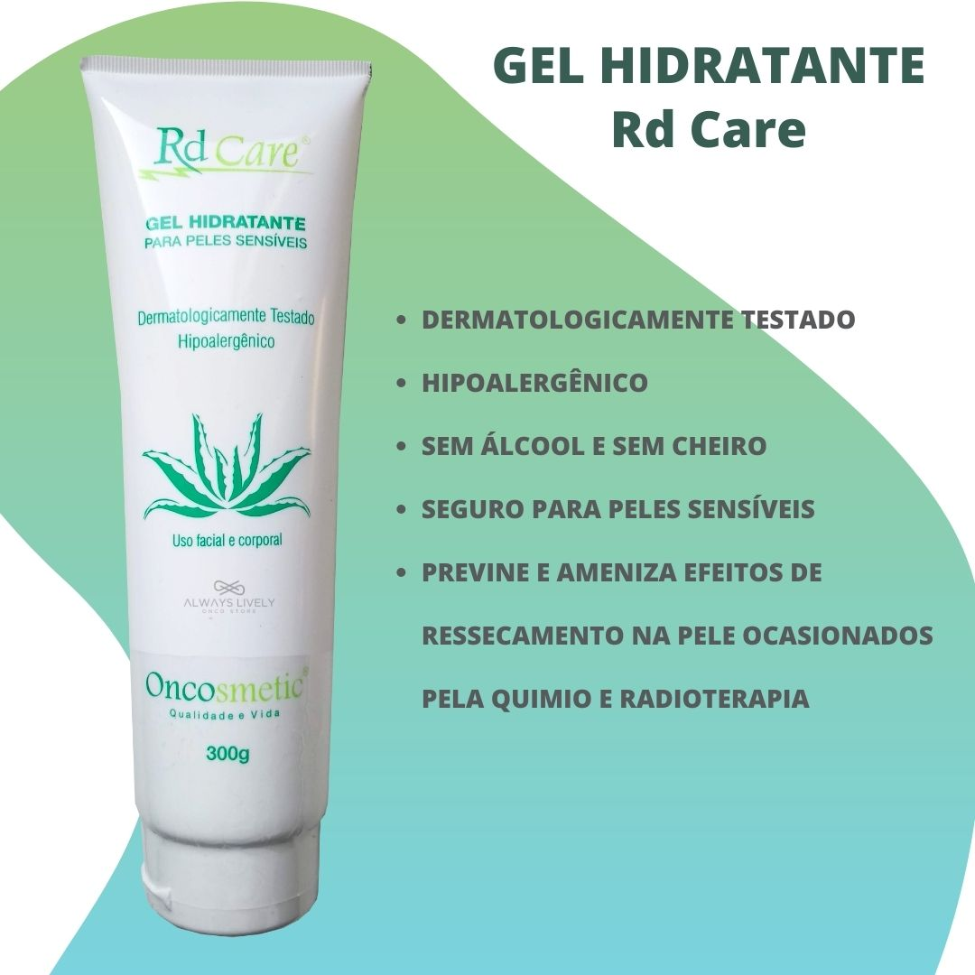 Gel Hidratante Pele Sensivel Rd Care 300g Quimio e Radioterapia