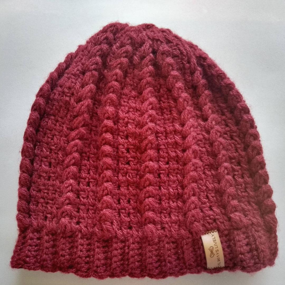 Gorro Croche Beanie Forrado Lauren