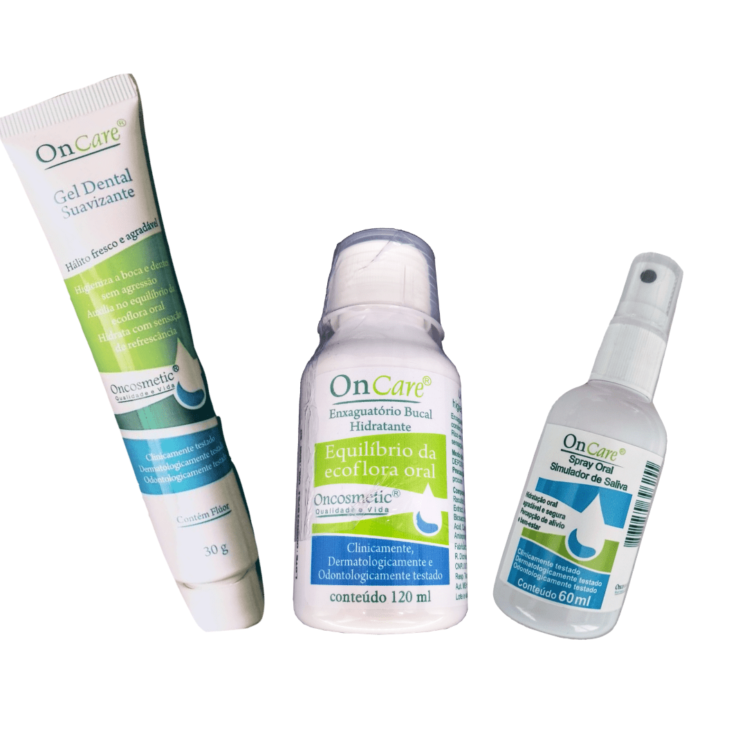Kit Cuidado Oral Boca Sensível - Gel Dental+Enxag+Spray Oral