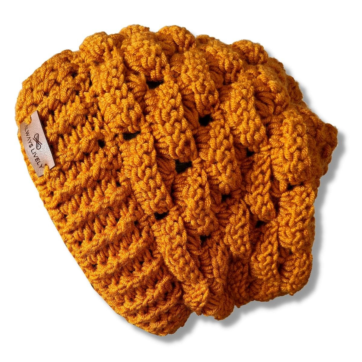 Kit Gorro Crochê Cloud Mostarda + Touca Sleep Preta