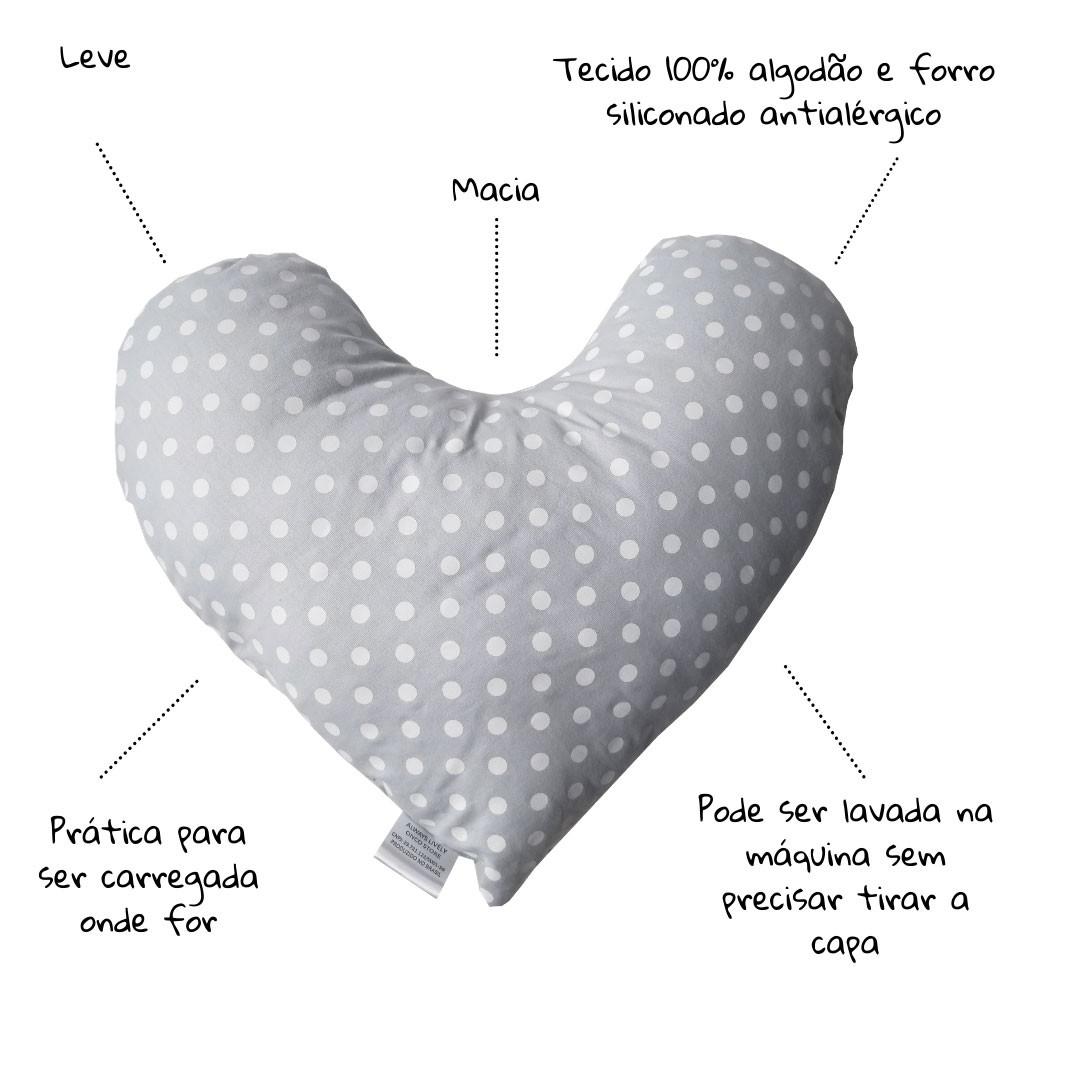 Kit Protetor Cinto + Almofada Coração conforto Mastectomia - opção 1