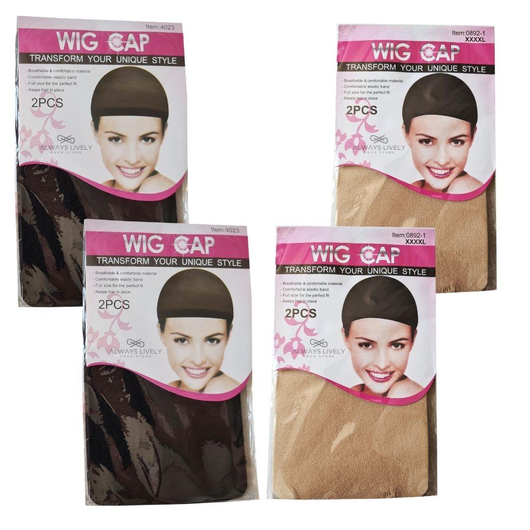 Kit Wig Cap -Touca Fina - 4 pctes com 2 peças cada - total 8 unids