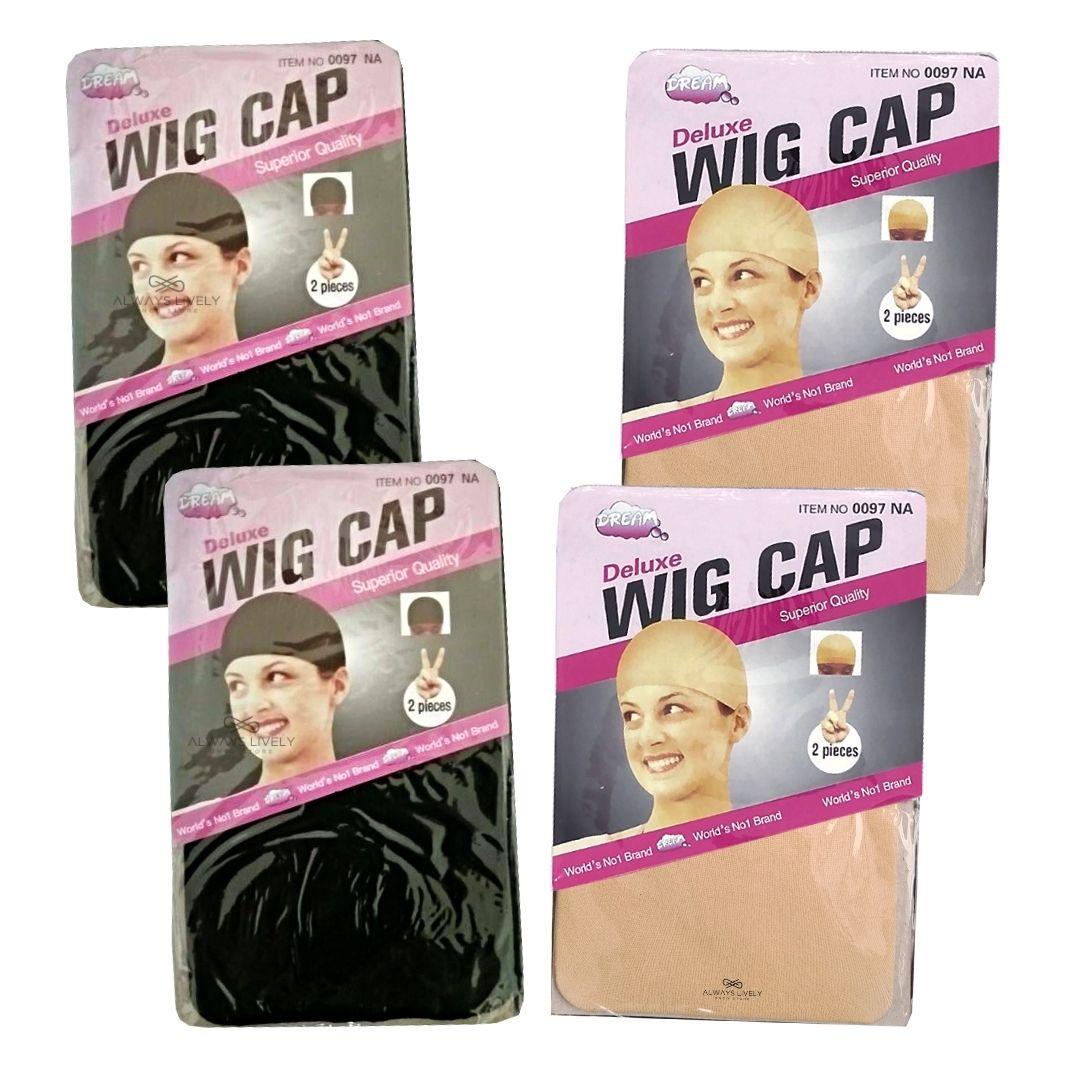 Kit Wig Cap -Touca Fina - 4 pctes com 2 peças cada - total 8 unid