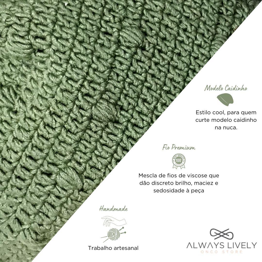 Touca Croche Chic Bubbles Verde Folha
