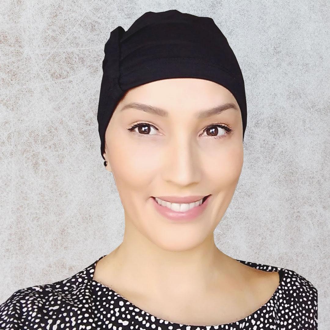 Touca de Dormir Quimioterapia Alopecia Touca Sleep Preta