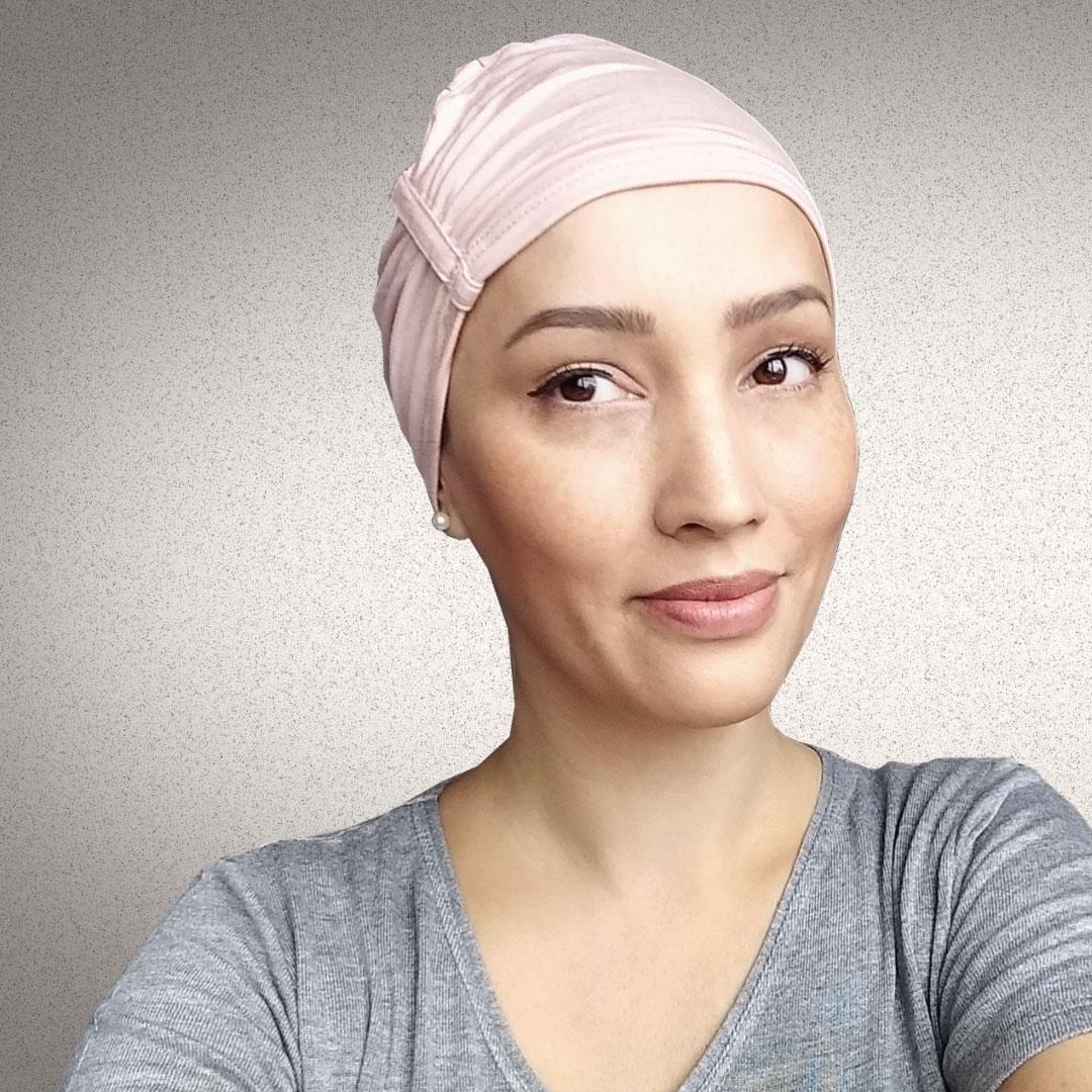 Touca de Dormir Quimioterapia Alopecia Touca Sleep Rosa