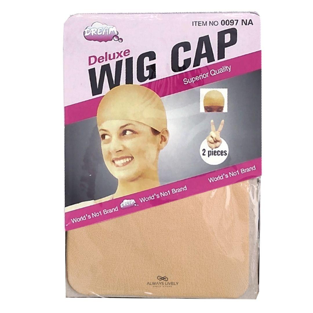 Touca Nylon Wig Cap 1 Pacote Com 2 Peças - Cor Bege Claro