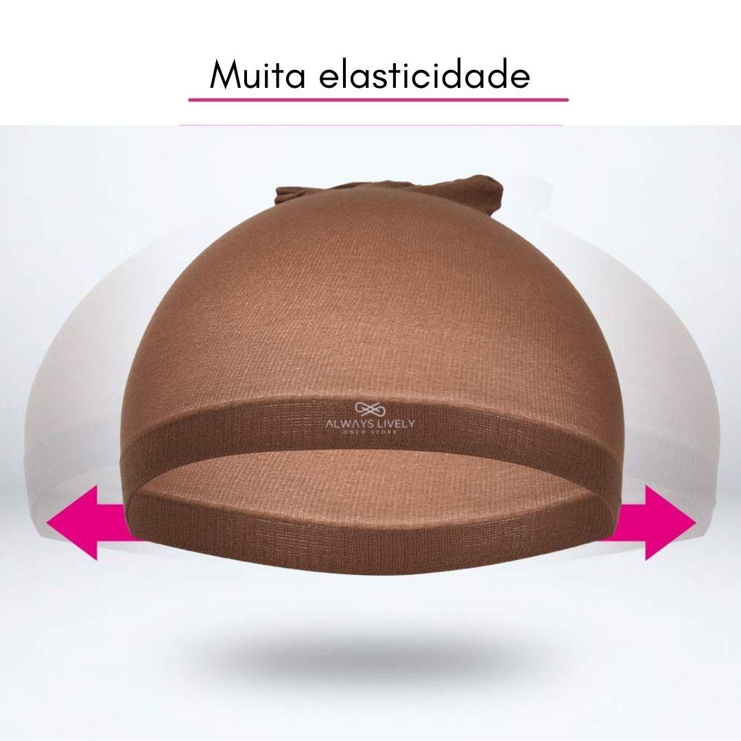 Touca Nylon Wig Cap 1 Pacote Com 2 Peças - Cor Marrom