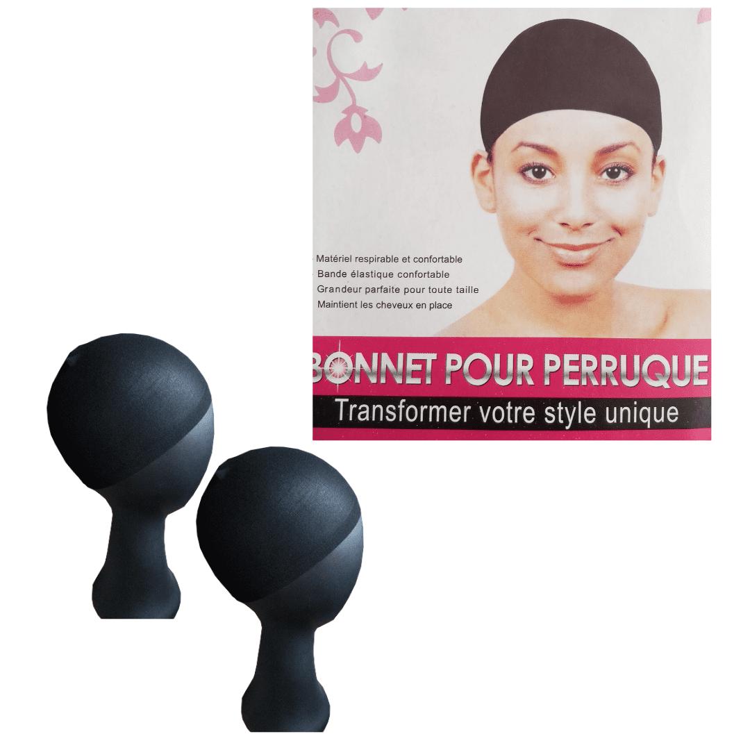 Touca Nylon Wig Cap 1 Pacote Com 2 Peças - Cor Preta