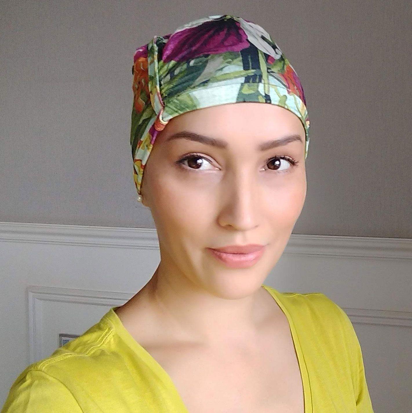 Touca Quimioterapia Alopecia - Ideal Para Dormir - Touca Sleep Floral