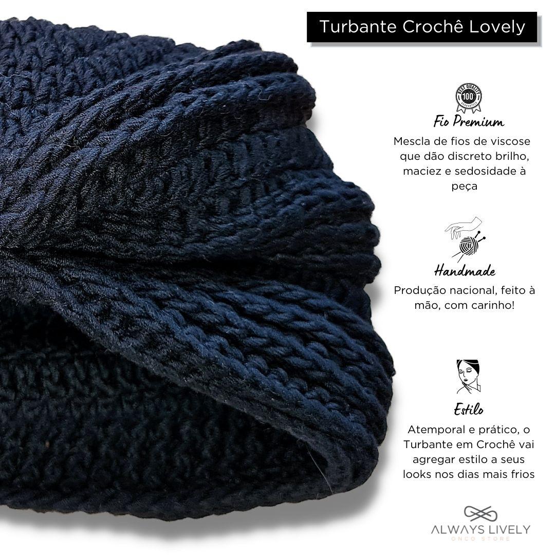 Turbante Croche Lovely Preto