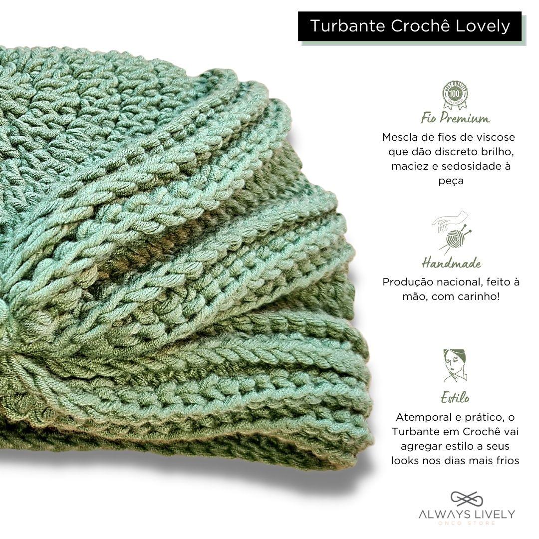 Turbante Croche Lovely Verde Folha