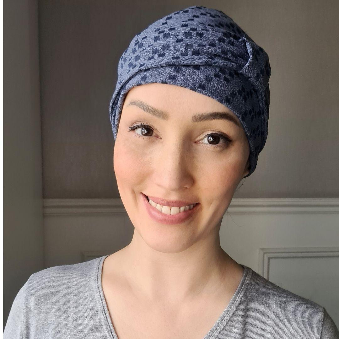 Turbante Feminino Alice Pixel Blue