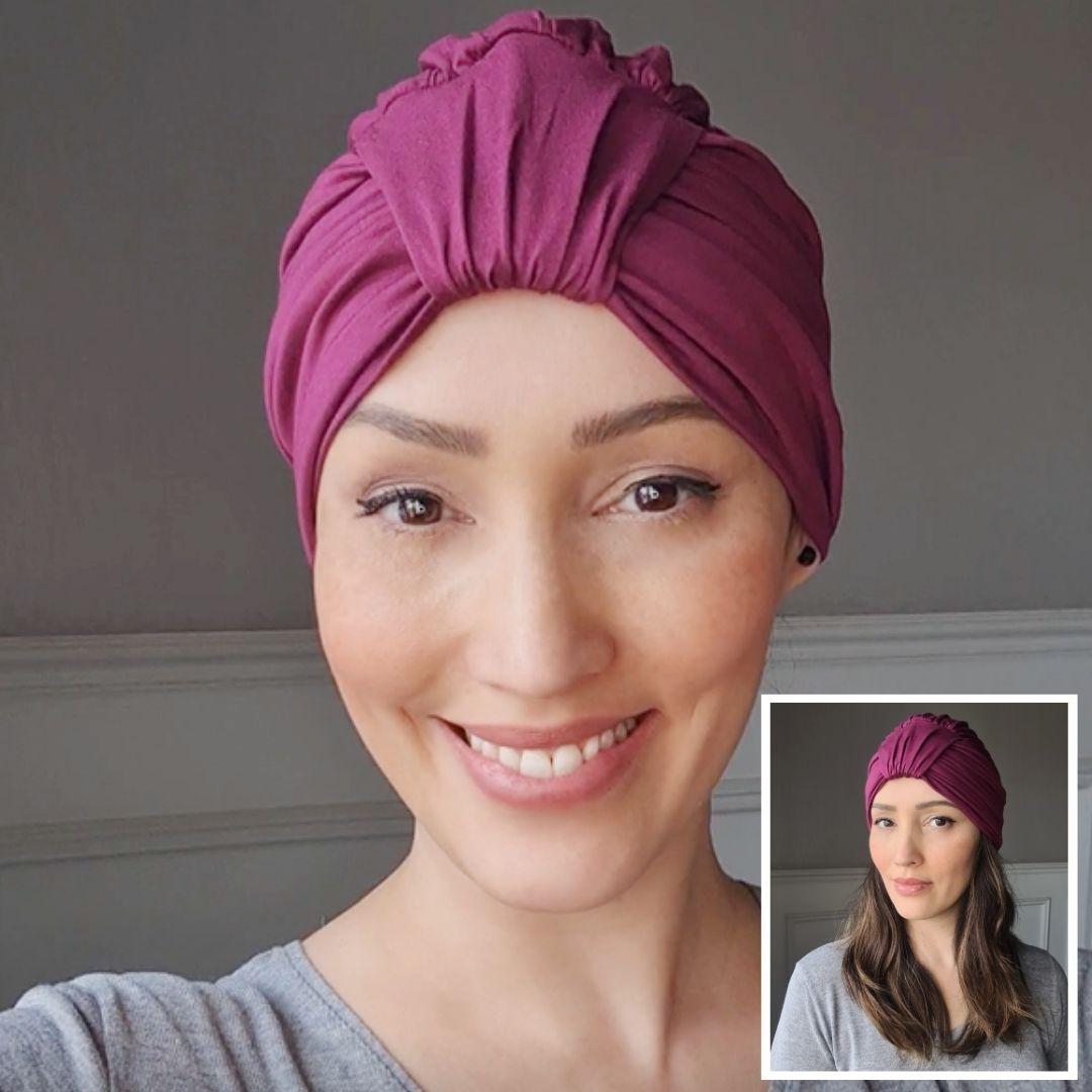 Turbante Feminino Laço Olivia Pink