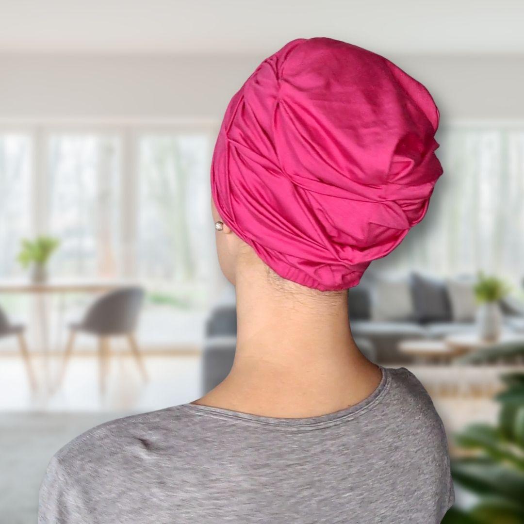 Turbante Feminino Rosa Pink Bee House