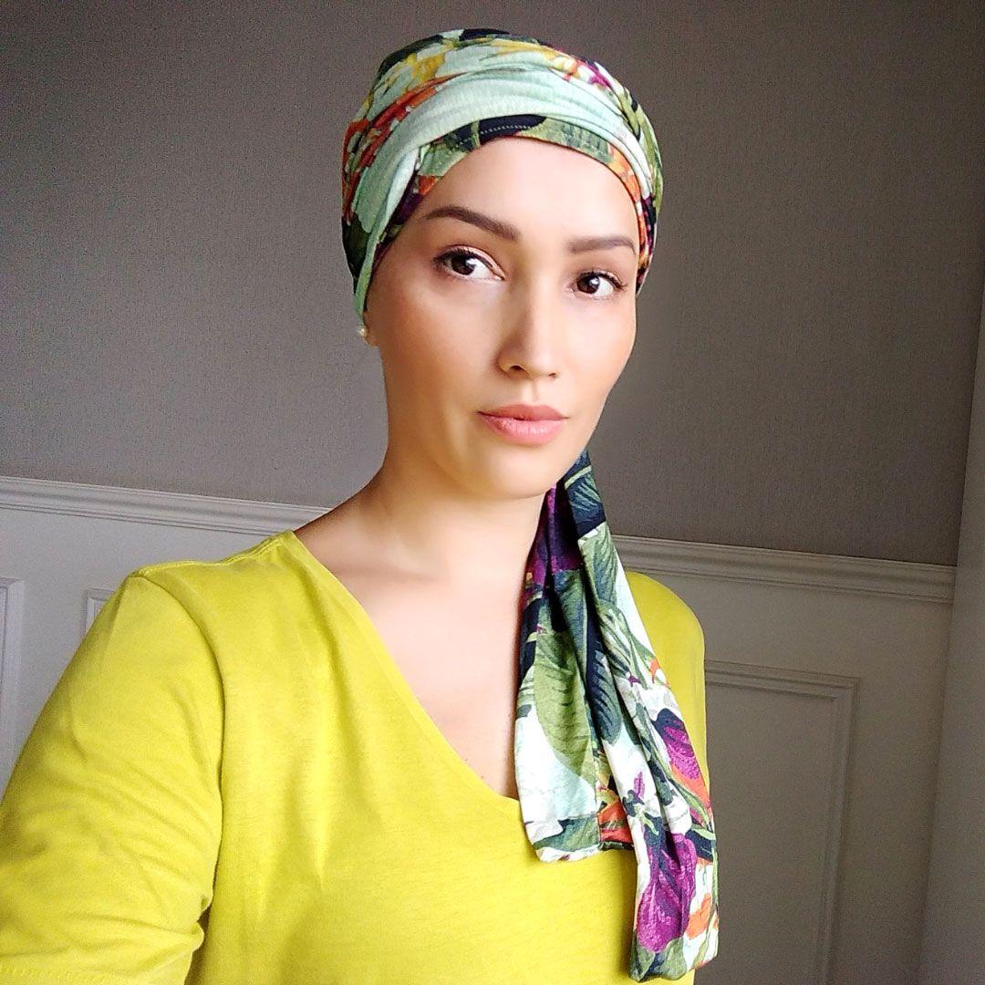 Turbante Feminino com Faixa Turbanfaixa Modal Floral Adele