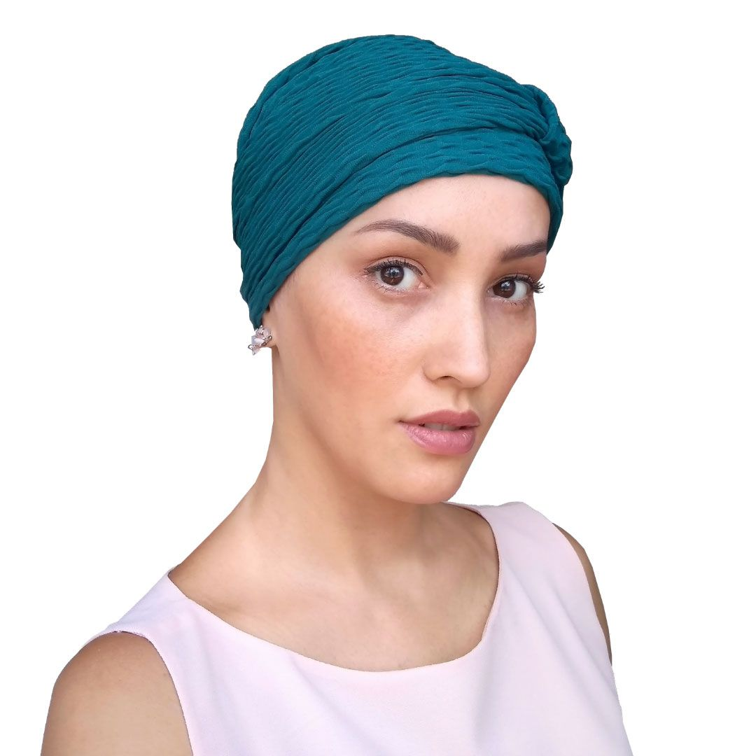 Turbante Feminino Verde Petróleo Alice Risk