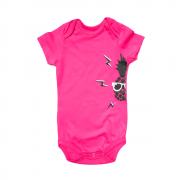 Body Bebê Manga Curta Pine Rosa