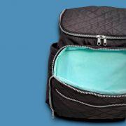 Bolsa Mochila Maternidade Back Pack Preta Fun Colors