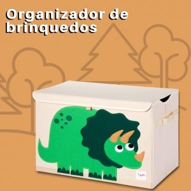 Caixa Organizadora de Brinquedos Dinossauro