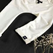 Calça Infantil Saruel Off White com ajuste na cintura