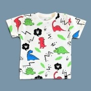 Camiseta Infantil Manga Curta Dinossauro Dino