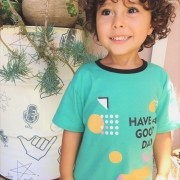 Camiseta Infantil Manga Curta Have a Good Day Verde