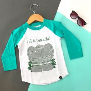 Camiseta Infantil Manga Longa Elefante Relax