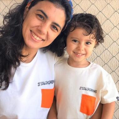 Camiseta Manga Curta Infantil Bege #SoulCaiçarinhas