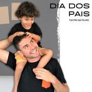 Kit 1 Pai e Filho Camisetas Pretas