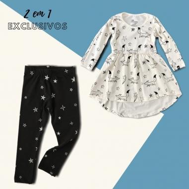 Look Completo Vestido + Legging