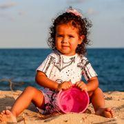 Macacão Bebê Proteção Solar UV 50+ Ancora Rosa