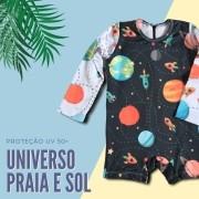 Macacão Bebê Proteção Solar UV 50+ Universo II