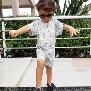 Macacão Infantil Curto Raposinhas nas Estrelas
