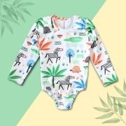 Maiô Safari Branco Proteção UV 50+