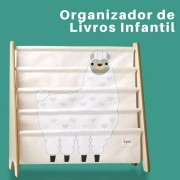 Rack para Livros Infantil Lhama 3 Sprouts