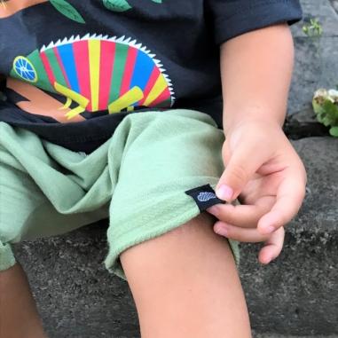 Short Saruel Infantil Verde Bebê