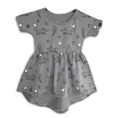 Vestido Infantil Raposinhas nas Estrelas