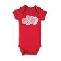 Body Bebê Manga Curta Nuvem