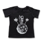 Camiseta Infantil Astronauta Surfista Preto
