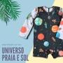 Macacão Bebê Proteção Solar UV 50+ Manga Longa Universo Planetas