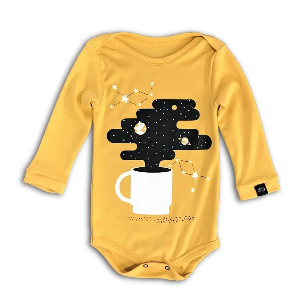 Body Bebê Amarelo A Noite é Longa