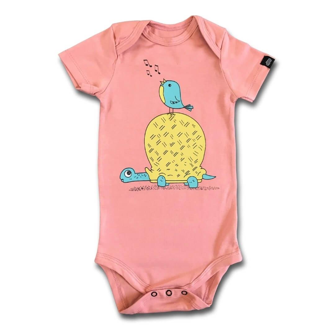 Body Bebê Manga Curta Tata e Piu Piu