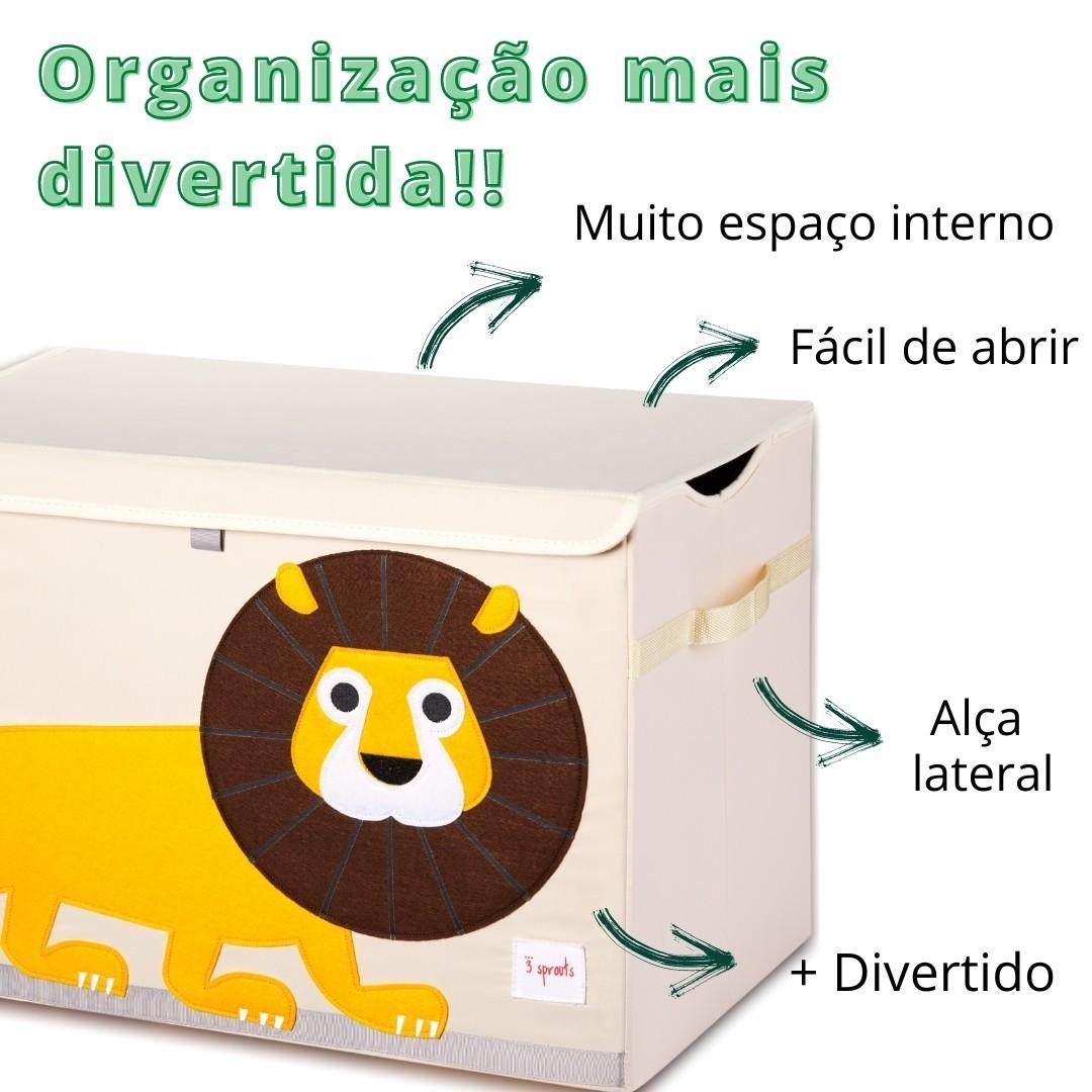 Caixa Organizadora de Brinquedos Leão