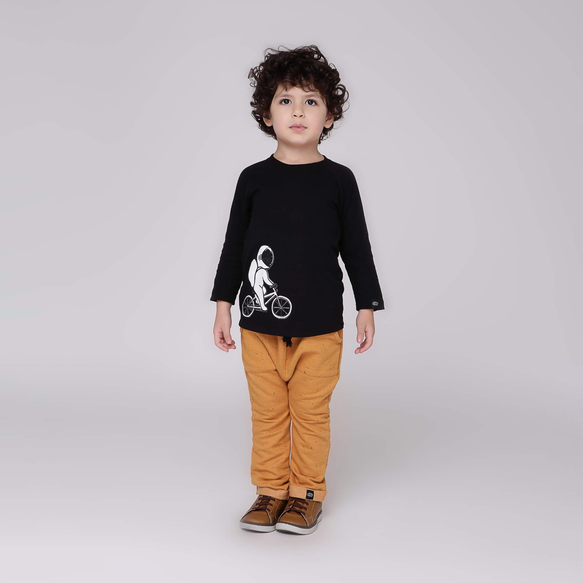 Calça Infantil Mostarda